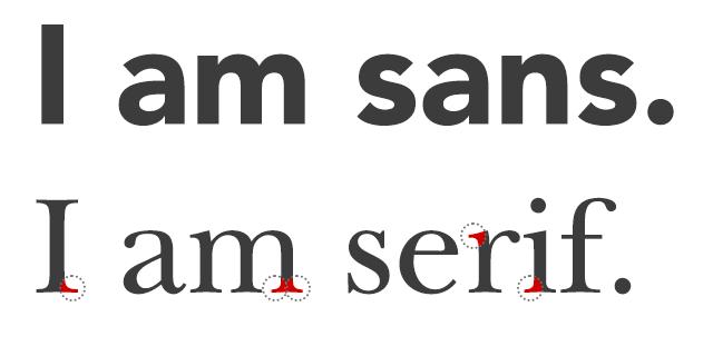 Sans-serif vs serif