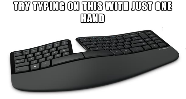 Not easy to type